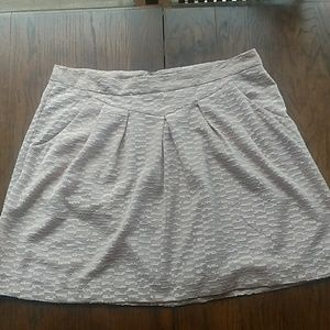GAP Skirts - Gap Cream Color Textured Skirt Size 16 Tall